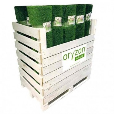 Box de 24 coupons de 1mx4m ORYZON GRASS Magnolia 32mm 6957 lizard