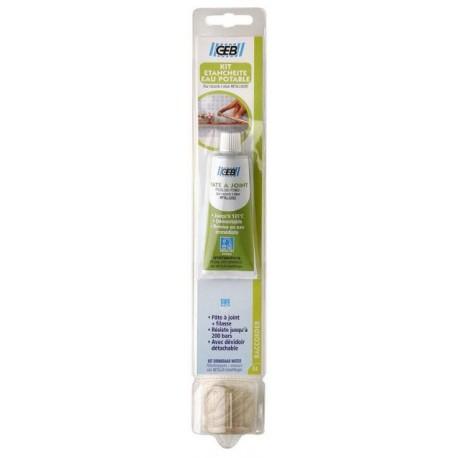 Kit d'étanchéité eau potable GEB : 50ml de pâte à joint + 18g de filasse