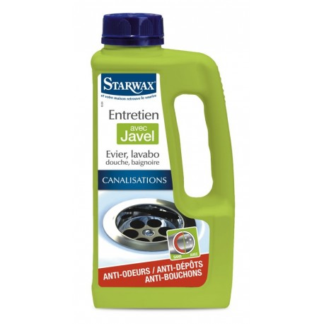 Entretien canalisation STARWAX avec javel 1L