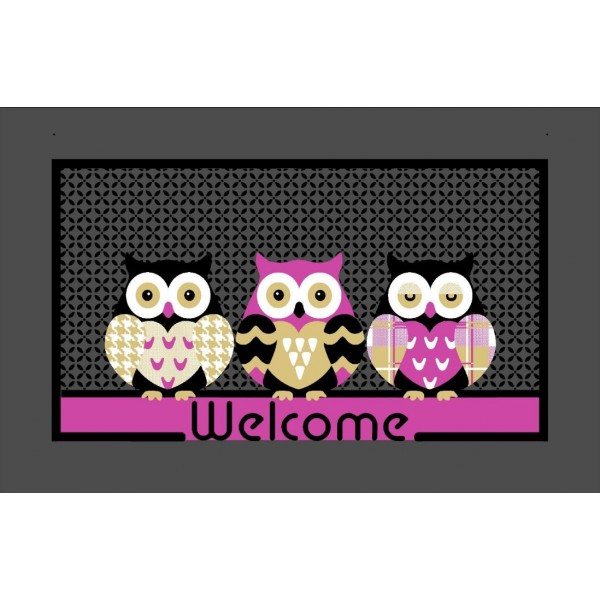 Decormat Tapis Welcome Chouette
