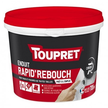 Enduit rapid'rebouch pâte TOUPRET gamme Hautes performances 700ml