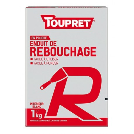 Enduit pour reboucher R poudre TOUPRET gamme Basique & Chantiers 1kg