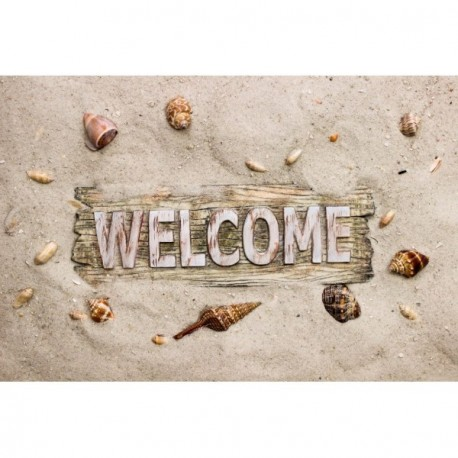 Tapis DECORMAT Velvet welcome beach 40x60cm