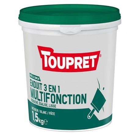 Enduit 3en1 multifonction pâte TOUPRET gamme Basique & Chantiers 1,5kg