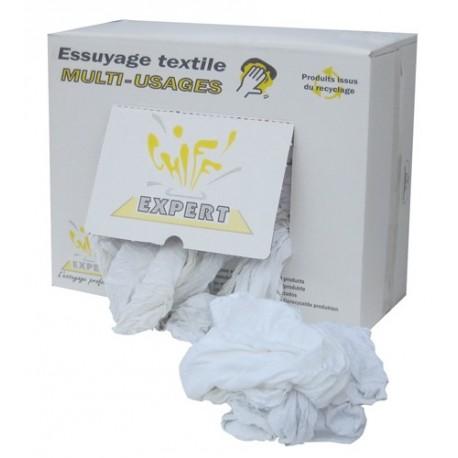 Chiffons d'essuyage T-shirt coton blanc GLOBAL HYGIENE 10kg