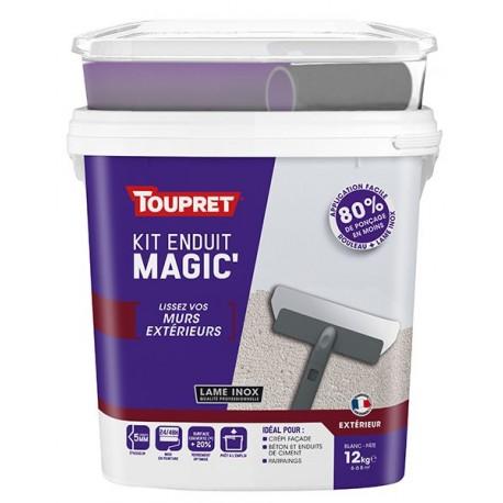 Enduit Magic'murs extérieurs pâte TOUPRET gamme hautes performances 12kg + outils
