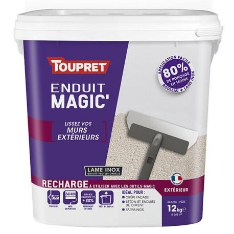 Enduit Magic'murs extérieurs pâte TOUPRET gamme hautes performances 12kg