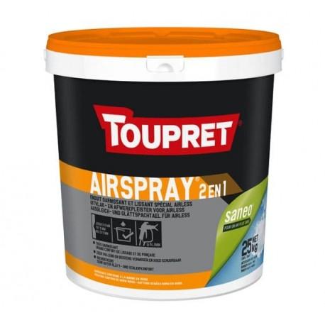 Enduit garnissant TOUPRET Bâtiment Airspray 2-en-1 25kg