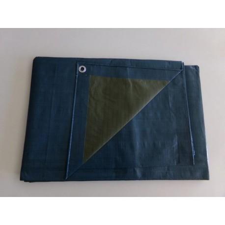 Bâche lourde SO.DE.PM Bleu/Vert bicolore 140gr/m²