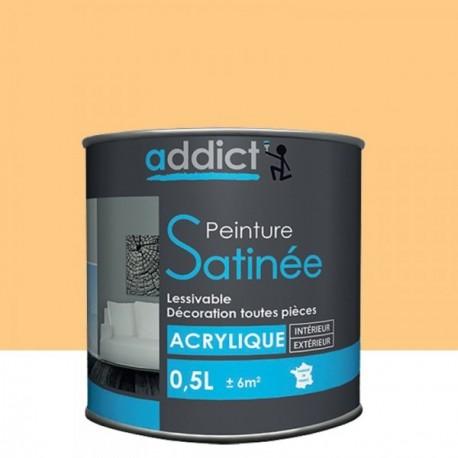 Peinture ADDICT acrylique satin abricot 0,5L