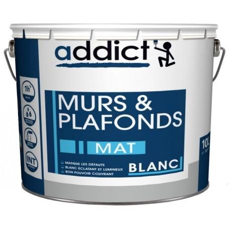 Peinture ADDICT acrylique Mat Murs et Plafonds 10L