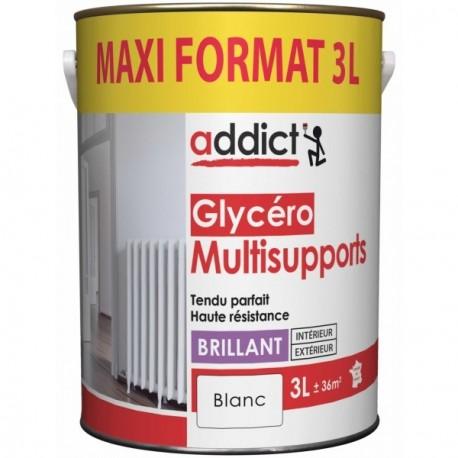 Laque ADDICT glycéro multi-supports brillant blanc 3L