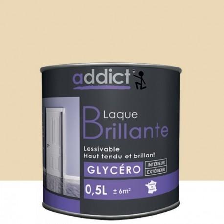 Laque ADDICT glycéro brillante blanc cassé 0,5L