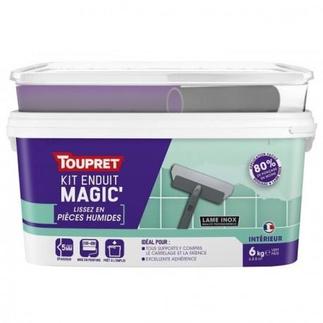 Enduit Magic'lissez en pièces humides pâte TOUPRET gamme hautes performances 6kg