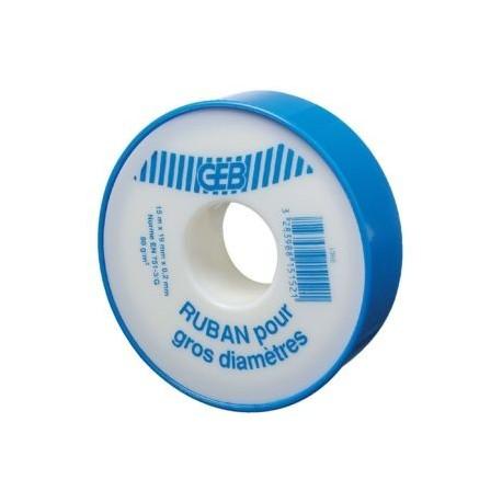 Ruban d'étanchéité GEB gros diamètre PTFE vrac 19mmx15mx0,2mm