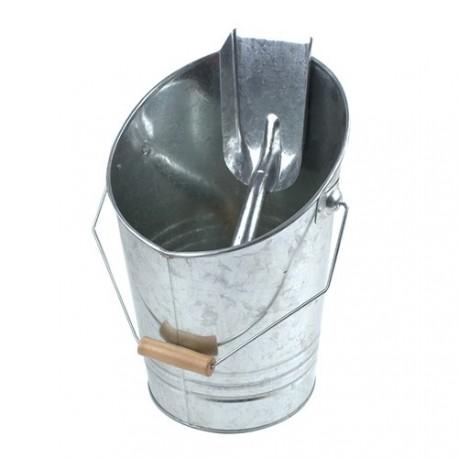 Seau à cendres conique avec pelle réf.1204 RUECAB 38x26cm