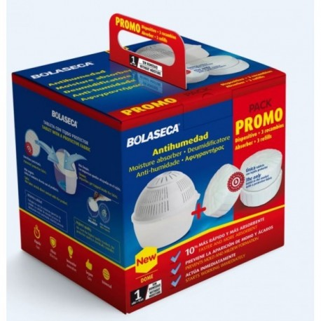 Pack de 1 absorbeur + 3 tablettes BOLASECA