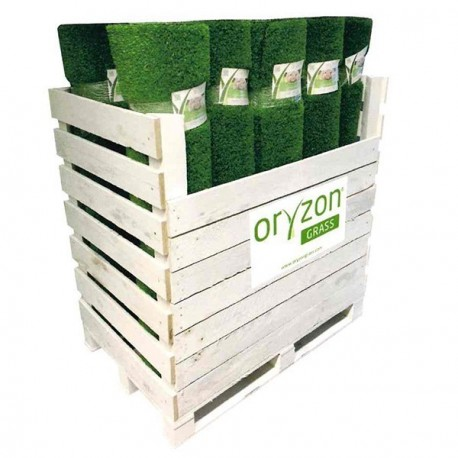 Box de 20 coupons de 1mx4m ORYZON GRASS Bamboo 32mm 7260 crocodile