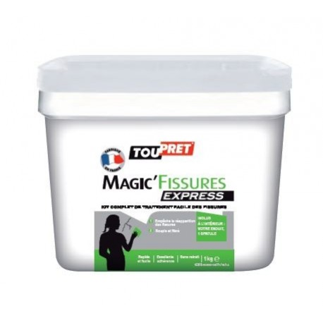 Enduit TOUPRET Magic Fissures Express gamme GSB 1kg
