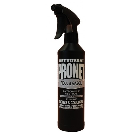 Nettoyant fioul et gasoil PRONET vaporisateur 500ml