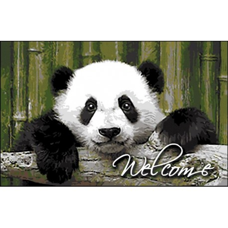 Tapis DECORMAT Welcome Panda 40x60cm