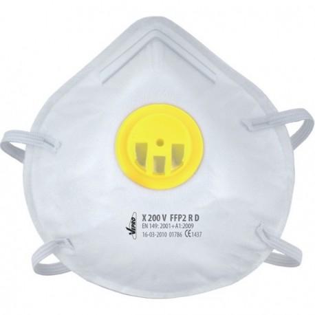 Demi-masque filtrant VEPRO classe FFP2 jaune boîte de 10