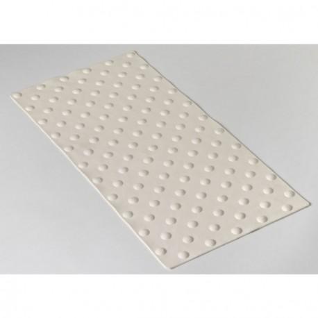 Dalle podotactile ROMUS Exteline 7x420x840mm réf.4220 méthacrylate blanc