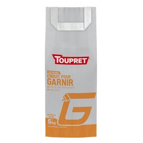 Enduit pour garnir G poudre TOUPRET gamme Basique & Chantiers 5kg