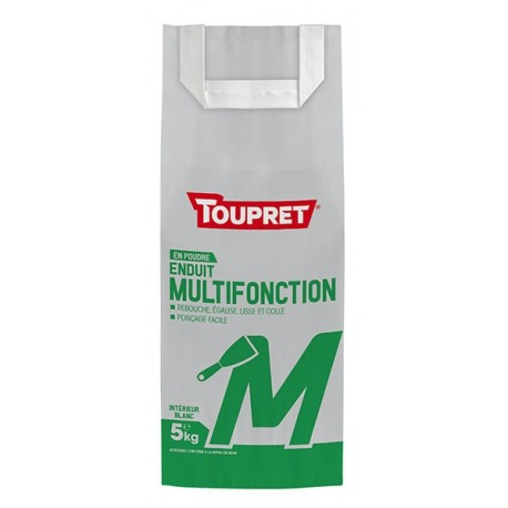 Enduit multifonction M poudre TOUPRET gamme Basique & Chantiers 5kg