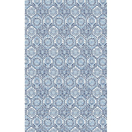 Tapis multi-usages ACCESS DECO flexy terre cuite bleu 0,65x15m